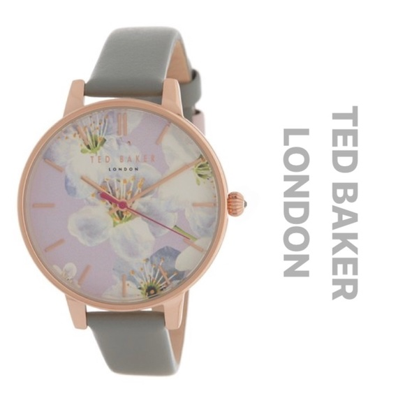 b4bfb812cb14 NEW  155 Ted Baker Floral Print Dial Watch 38mm